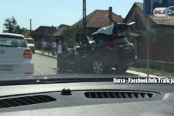 GRAV ACCIDENT la Răscruci! Împact între un autoturism și o autobasculantă. Traficul pe DN1C, PARALIZAT – FOTO/VIDEO