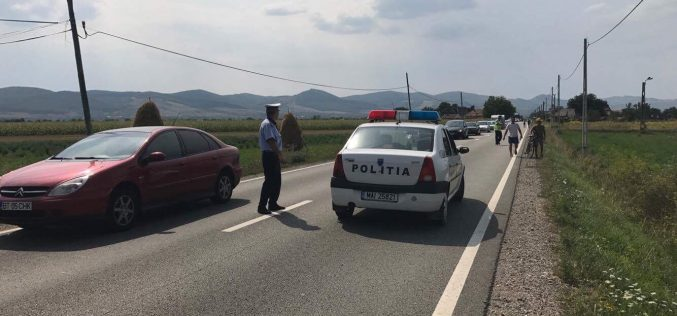 ACCIDENT în Cășeiu! Biciclist RĂNIT GRAV după ce a fost lovit de o mașină – FOTO/VIDEO