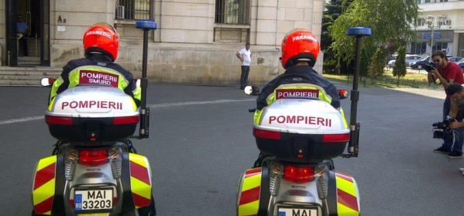 ISU Cluj are, începând de astăzi, două motociclete de intervenție SMURD