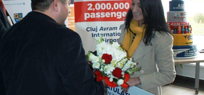 Sărbătoare pe Aeroportul Internațional Cluj! A fost înregistrat pasagerul cu numărul 2.000.000 – FOTO