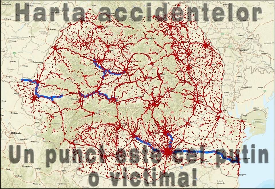 Statistică Sumbră Județul Cluj Pe Harta Accidentelor Rutiere